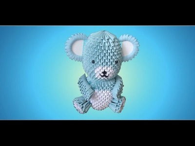 3D Origami Teddy Bear Tutorial - Part 2