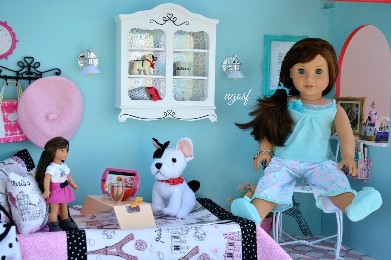 American Girl Doll Grace's Bakery Bedroom! ~ HD Watch in HD!