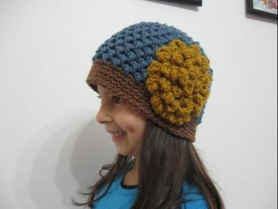 Butterfly Stitch Beanie REVISED - Left Handed Tutorial - REDONE in HD