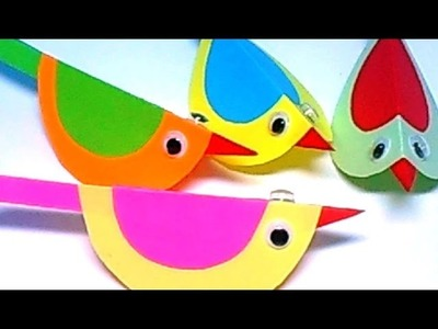 Colored Paper For Kids.  Birds From Colored Paper