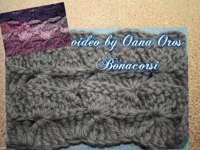 Crochet hourglass stitch