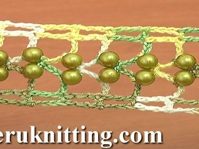 Crochet  Narrow Beaded Lace Tutorial 25