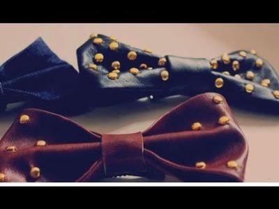 .DIY: Come creare un fiocco in ecopelle. DIY: Leather bows.