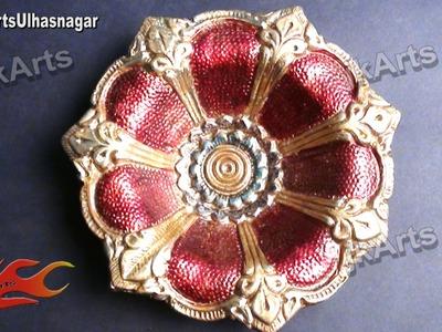 DIY Diwali Diya Decoration with Glass Colors | How to |  JK Arts  410