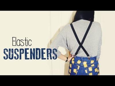 DIY ✂ Elastic Suspenders.Braces (Easy)