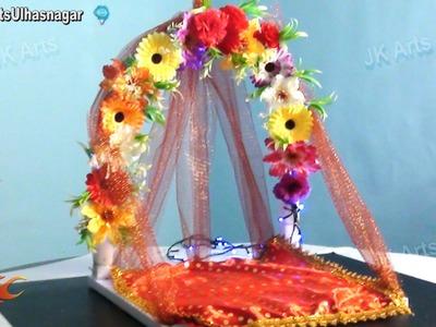 DIY Ganpati  FLower Makhar Decoration | How to make | JK Arts 671