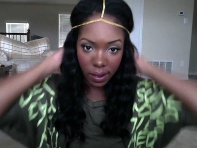 DIY Gold Headpiece inspired by Monica