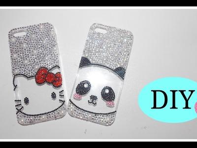 DIY: Hello kitty. Panda diamante phone case