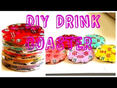 DIY How to make a STARBUCKS DRINK COASTER