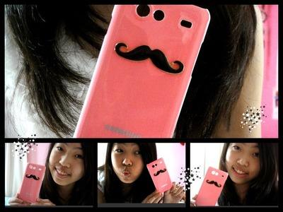 ❤  DIY ~ Mustache Phone Case ❤