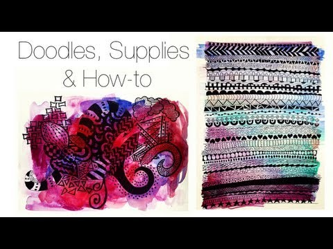 Doodles, Supplies & How-to ♡ Theeasydiy #ArtsyStuff