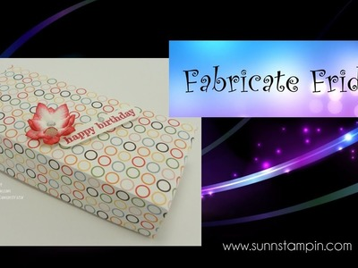 Fabricate Friday - 4 5 inch rectangle flip lid box