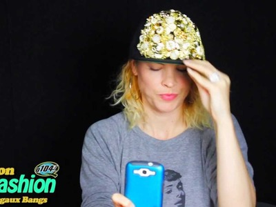 Fashion Shmashion: The Secret To Making Your Own Studded Jeweled Hat TUTORIAL