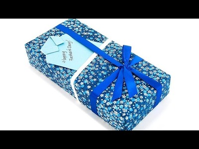Father's Day Gift Wrapping  with Handmade Card