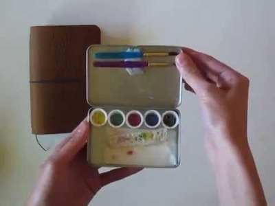 Field Notes Traveler's Notebook and DIY Traveling Watercolor tin
