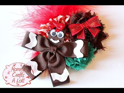 Gingerbread hairbow how to  Gingerbread hair bow tutorial by MommyCraftsAlot