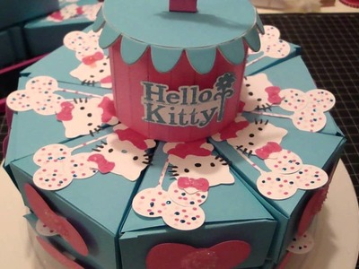 Hello Kitty Cake and Pie Box Favors