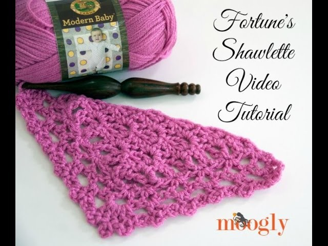 How to Crochet: Fortune's Shawlette (Left Handed)