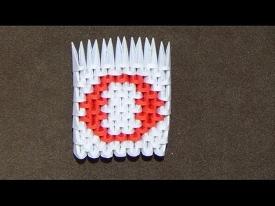 How To Make a 3D Origami Number 0