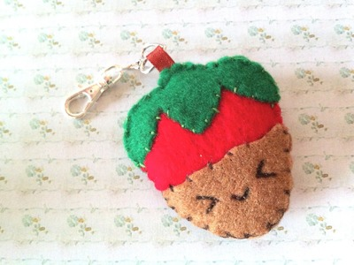 How to Make a Cute Chocolate Dipped Strawberry Plushie