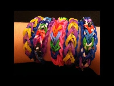 How to Make a Cute Rainbow Bridge Rubber Band Bracelet - Easy