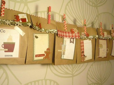 How To Make A Paper Bag Advent Calendar Garland - DIY Crafts Tutorial - Guidecentral