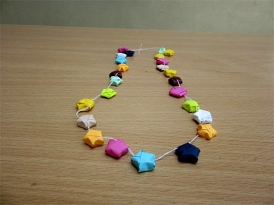 How to Make a Paper Lucky Star Chain - Easy Tutorials