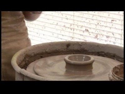 How to Make a Pottery Tea Set : Pottery: Centering & Opening Tea Cups