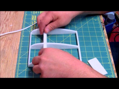 How to make a ribbed foam wing