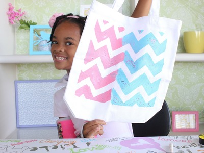 How to Make a Vintage Chevron Glitter Tote Bag