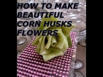 How to make flowers with corn husk | flower making tutorial