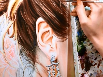 How to Paint Hair and Ears - Watercolor Portrait Tutorial