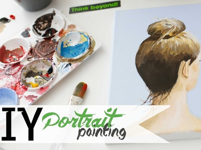 How To Paint - Hair Bun Portrait w. Acrylics 3.3 | ANNEORSHINE