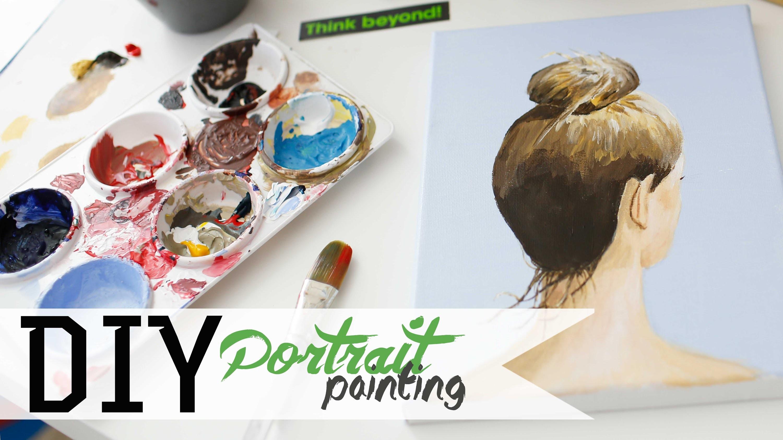How To Paint - Hair Bun Portrait w. Acrylics 3.3 | ANNEORSHINE