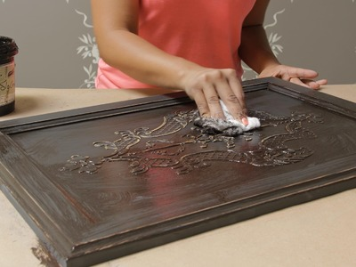 How to Stencil on Wood Tutorial: Create a Carved Wood Effect with Furniture Stencils and Wood Icing