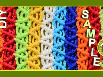 Macrame ABC - pattern sample #18