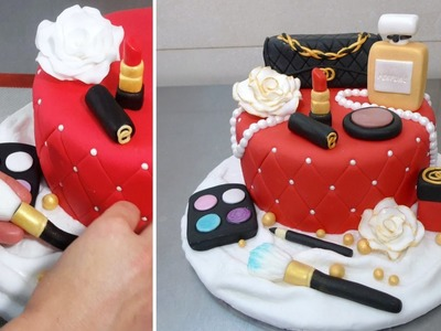 MAKE UP CAKE - HOW TO - by CakesStepbyStep