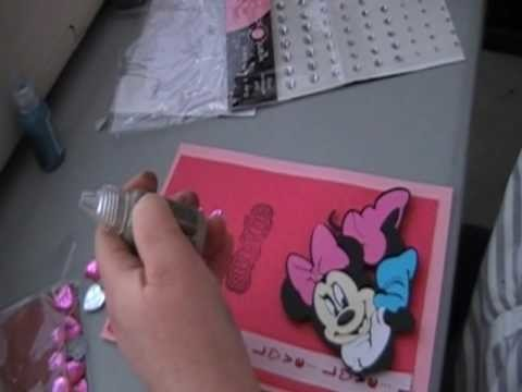 Minnie Mouse handmade card part 3