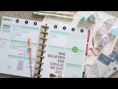 My Happy Planner September Spread & Week 36 (Mints, Silvers, Pinks) | Charmaine Dulak