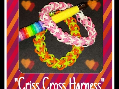 "New ""Criss Cross Harness"" HOOK ONLY Rainbow Loom Bracelet. How To Tutorial"