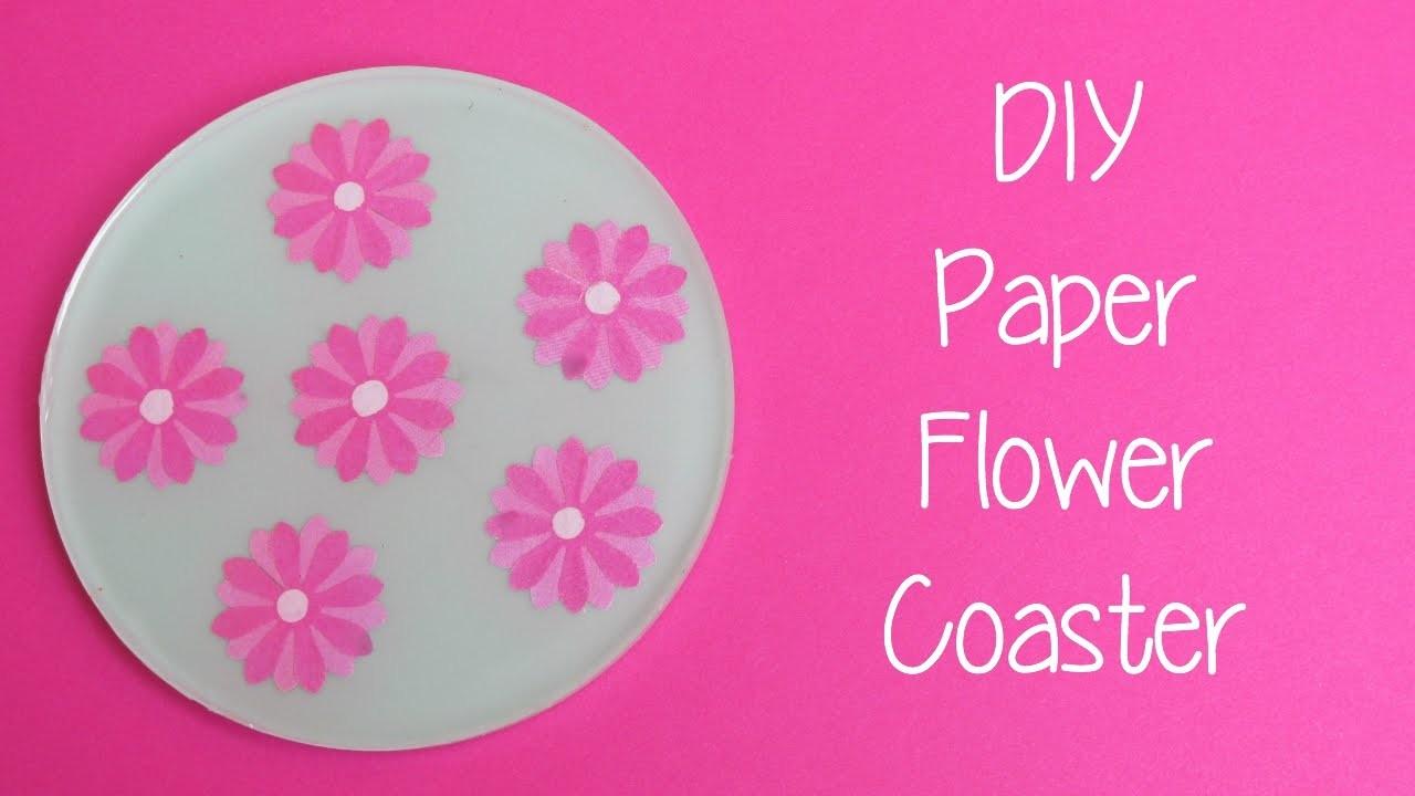 Paper Flower Coaster DIY   Another Coaster Friday Craft Klatch