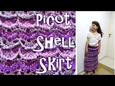 Picot Shell Skirt - Crochet Tutorial