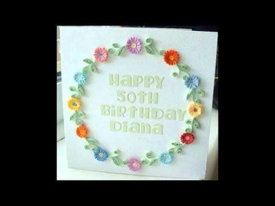 Quilling Pattern Birthday Cards