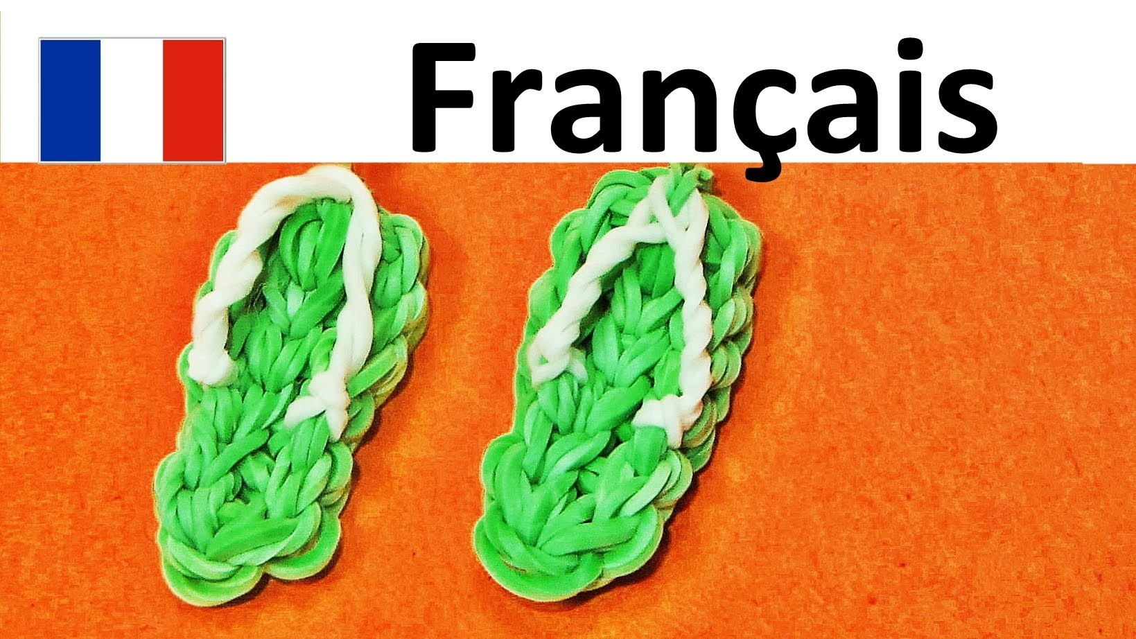 Rainbow Loom Francais. Bracelet Elastique | Sandales.  tongs | loom bands sandals