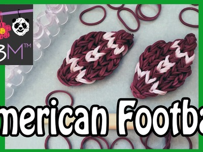 Rainbow Loom How to Make An American Football Charm