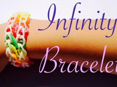 Rainbow Loom - Infinity Bracelet - Tutorial How to (Easy tuto facile français)