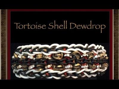 Rainbow Loom Tortoise Shell Dewdrop Bracelet Tutorial.How To