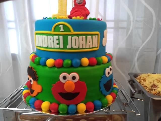 Sesame Street Rainbow Cake #Colorful