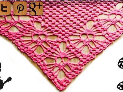 Skull shawl lefty crochet pattern part 2 - by Kungen - © Woolpedia