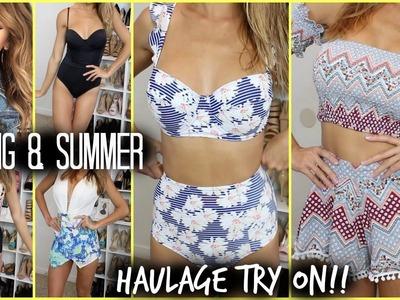 SPRING SUMMER HAUL- TRY ON!! High waist bikinis, twin sets, dresses